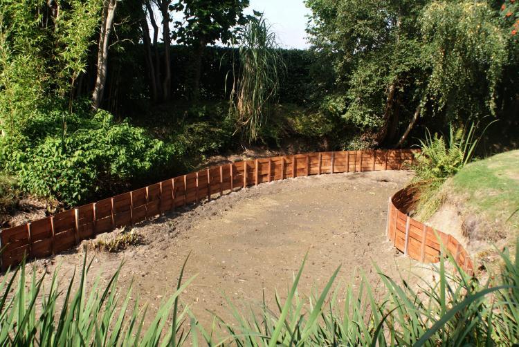 Photo d'une clôture bois en Azobé