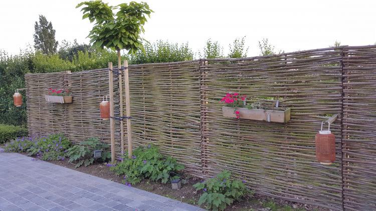 Photo de panneaux bois en Noisetier