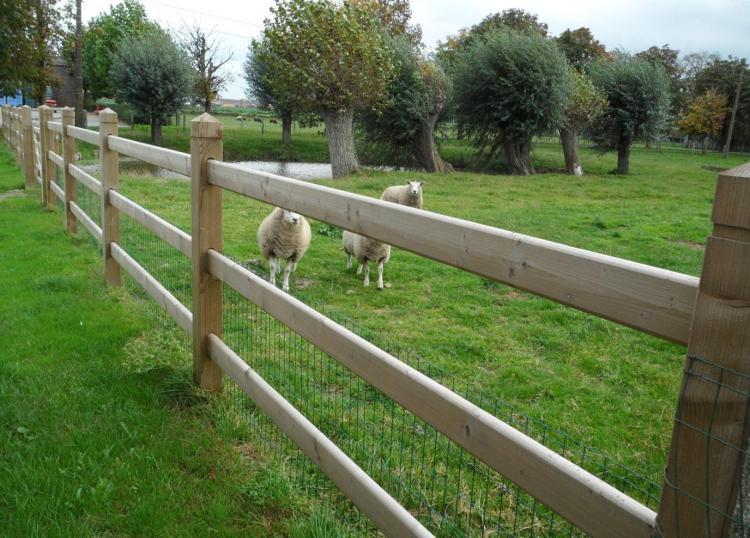 Photo d'une clôture bois Kensington I en bois exotique