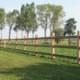 Photo d'une clôture bois Kensington II en bois exotique