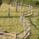 Photo d'une clôture bois York Massiv en acacia