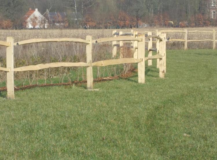 Photo d'un clôture bois York en chataignier