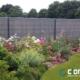 Photo d'une clôture rigide avec occultant composite de coloris Gris