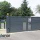 Photo d'un portail battant alu ral 7016 gris anthracite