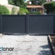 Photo d'un portail battant alu plein ral 7016 gris anthracite