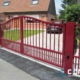 Photo d'un portail alu autoportant de style ral 3005