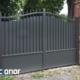 Photo d'un portail battant alu de Style ral 7016 gris anthracite