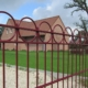 Photo d'une clôture avec panneau décoratif Anno ral 3005